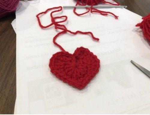 Crocheted Hearts, thank you Kathy Bryker